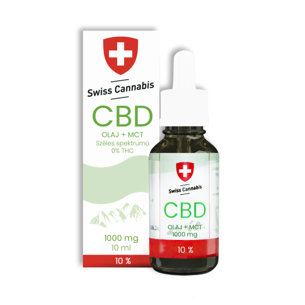 Swiss Cannabis CBD-MCT olaj 10% - 1000mg/10ml