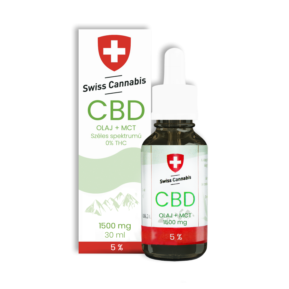 Swiss Cannabis CBD-MCT olaj 5% - 1500mg/30ml